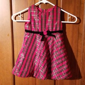 Plaid little girl holiday dress